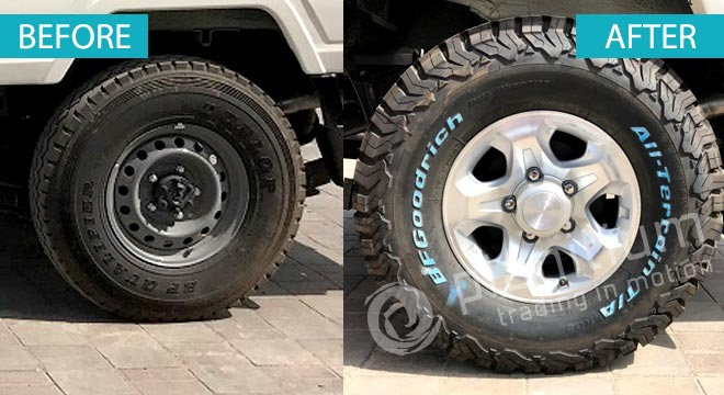 All Terrain LT285/75R16 With Alloy Wheel