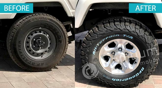Tyre All Terrain LT285/75R16 With Alloy Wheel