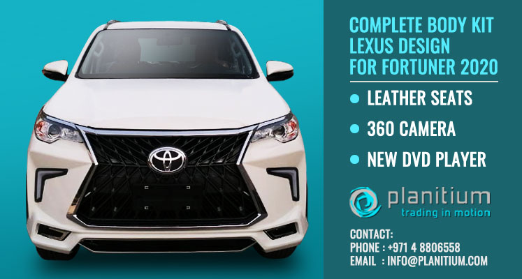 complete body kit lexus design for toyota fortuner 2020